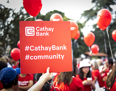 Cathay Bank participates in the 2018 Walk for Hope in Los Angeles.