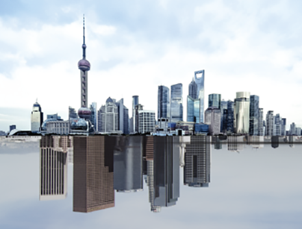 Shanghai and new york landscape
