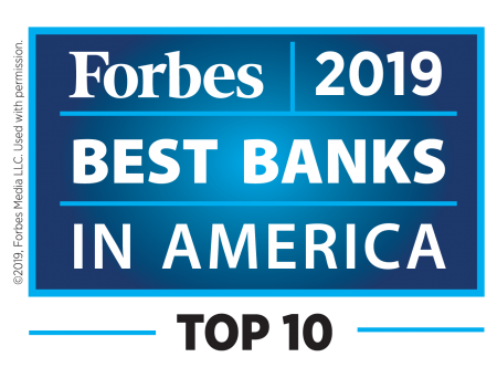 Forbes 2019 Best Bank in America - Top 10