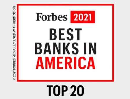 Cathay General Bancorp ranks in Top 20 on Forbes Best Banks in America 2021 list